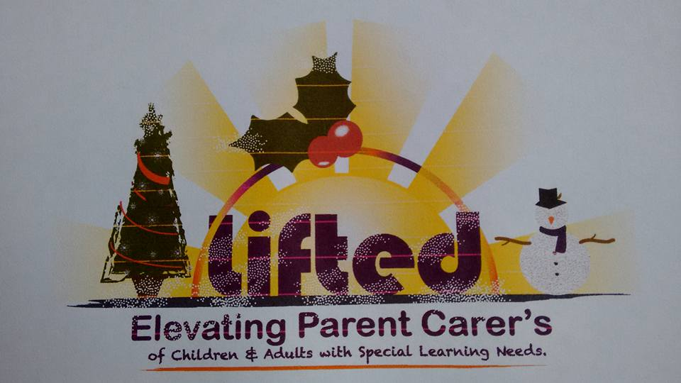 Lifted Carers' Centre logo - Christmas festive version