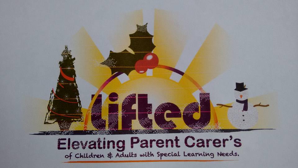 Lifted Carers' Centre logo - Christmas festive version