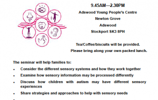GMAC Sensory Needs Workshop 27.03.17. Stockport flyer