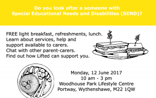 Poster for Lifted's Carers Week Information Event 2017 | Lifted Carers' Centre
