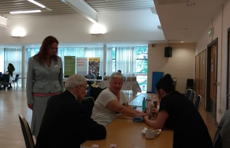 Carers Week Information Event - Lord Mayor Eddy Newman chatting with pampering ladies