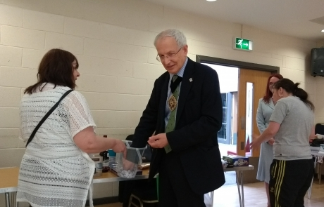 Carers Week Information Event - Lord Mayor Eddy Newman doing tombola