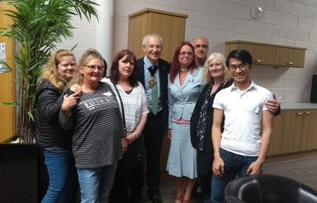 Carers Week Information Event - Lord Mayor Eddy Newman with Lifted team
