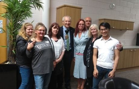 Carers Week Information Event - Lord Mayor Eddy Newman with Lifted team 2