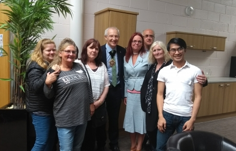 Carers Week Information Event - Lord Mayor Eddy Newman with Lifted team 3