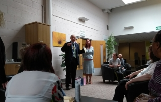 the Lord Mayor, Eddy Newman, giving a speech at our Carers Week Information Event