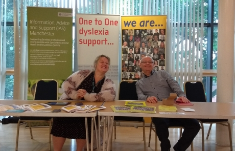 Carers Week Information Event stall - IAS and Dyslexia Support