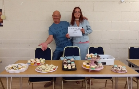 Carers Week Information Event stall - cakes