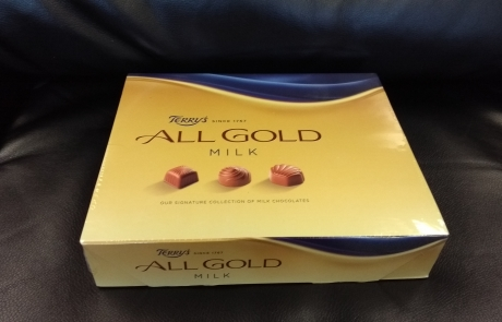 Carers Week raffle prize - Terry's All Gold milk chocolates