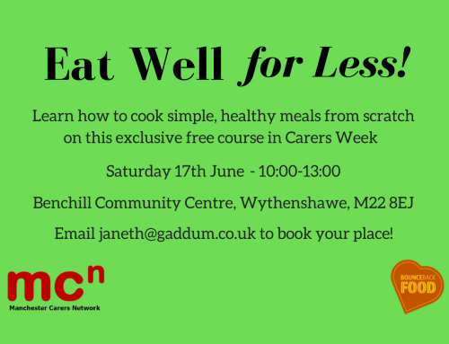 Information Sharing : Eat Well for Less Cooking Course