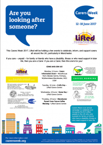 Lifted's events for Carers Week 2017