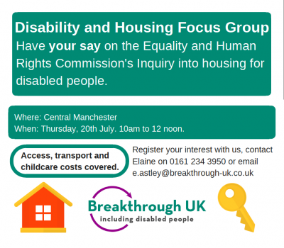 EHRC Breakthrough Disability and Housing Focus Group