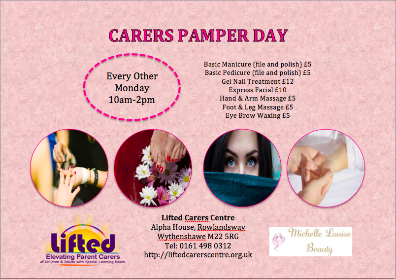 poster for Lifted's pamper days