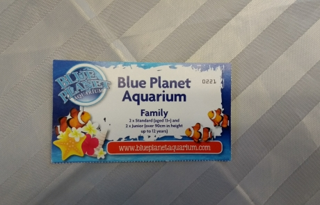 Blue Planet Aquarium voucher for the Lifted Christmas raffle