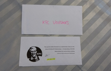 KFC voucher for the Lifted Christmas raffle