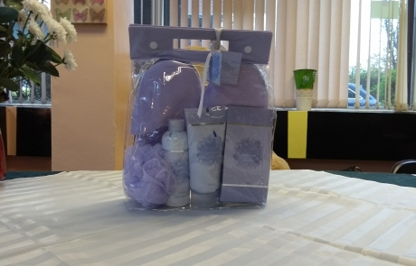 lavender slipper bag set for the Lifted Christmas raffle