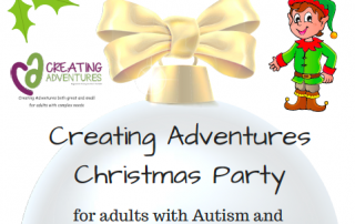 Creating Adventures Christmas party flyer (cropped for use as page header)