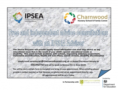 Information Sharing : Free and Independent Advice Consultations with an IPSEA Adviser