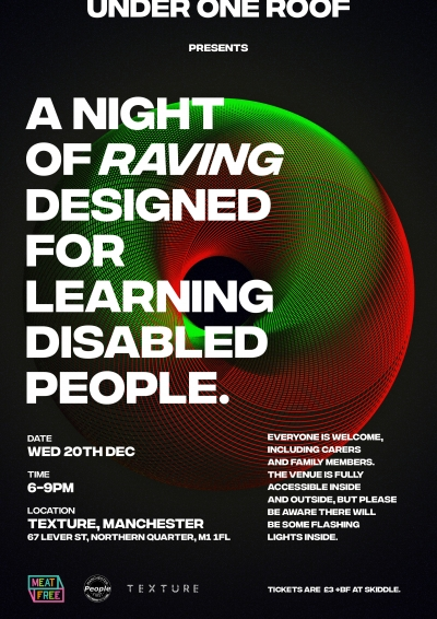 UnderOneRoof Rave Night poster for December