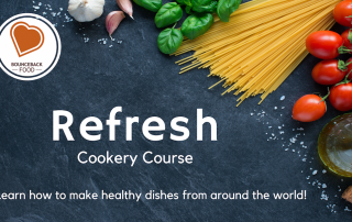 Poster for 'Refresh' Cookery Course by Bounceback Food