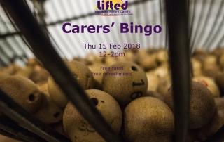 Lifted Carers' Bingo 2018 poster | original image from pixabay.com