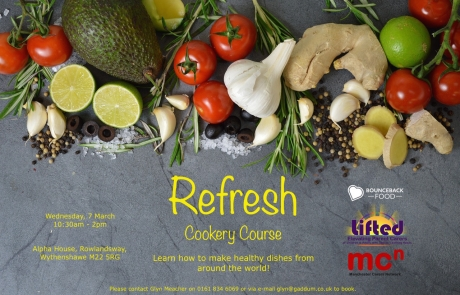 'Refresh' Cookery Course | With Bounceback Food and Manchester Carers Network