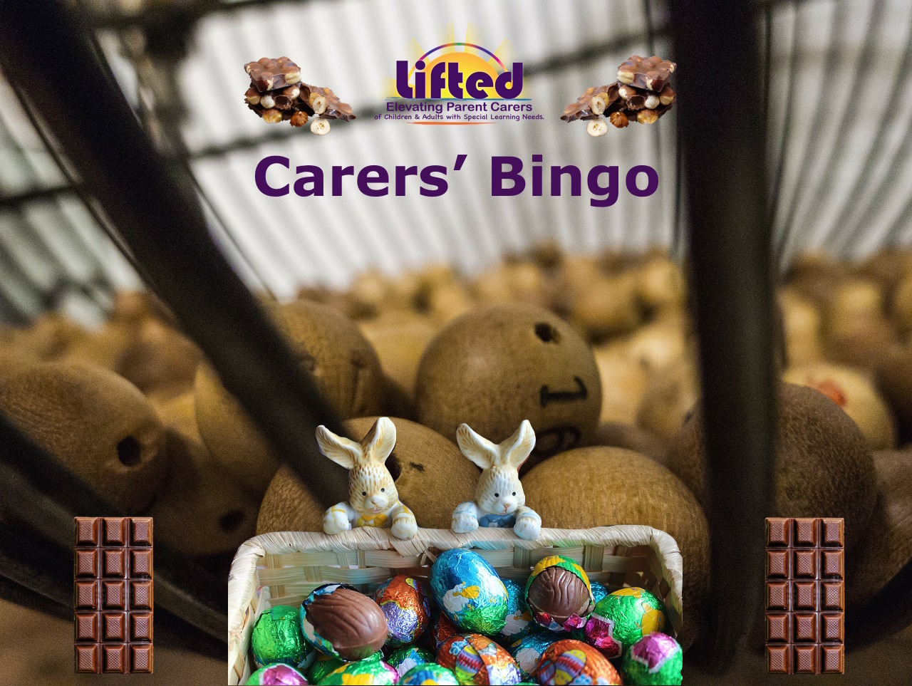Lifted Carers' Chocolate Bingo 2018 teaser | original image from pixabay.com