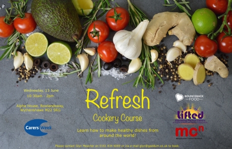 'Refresh' Cookery Course | With Bounceback Food and Manchester Carers Network | Carers Week