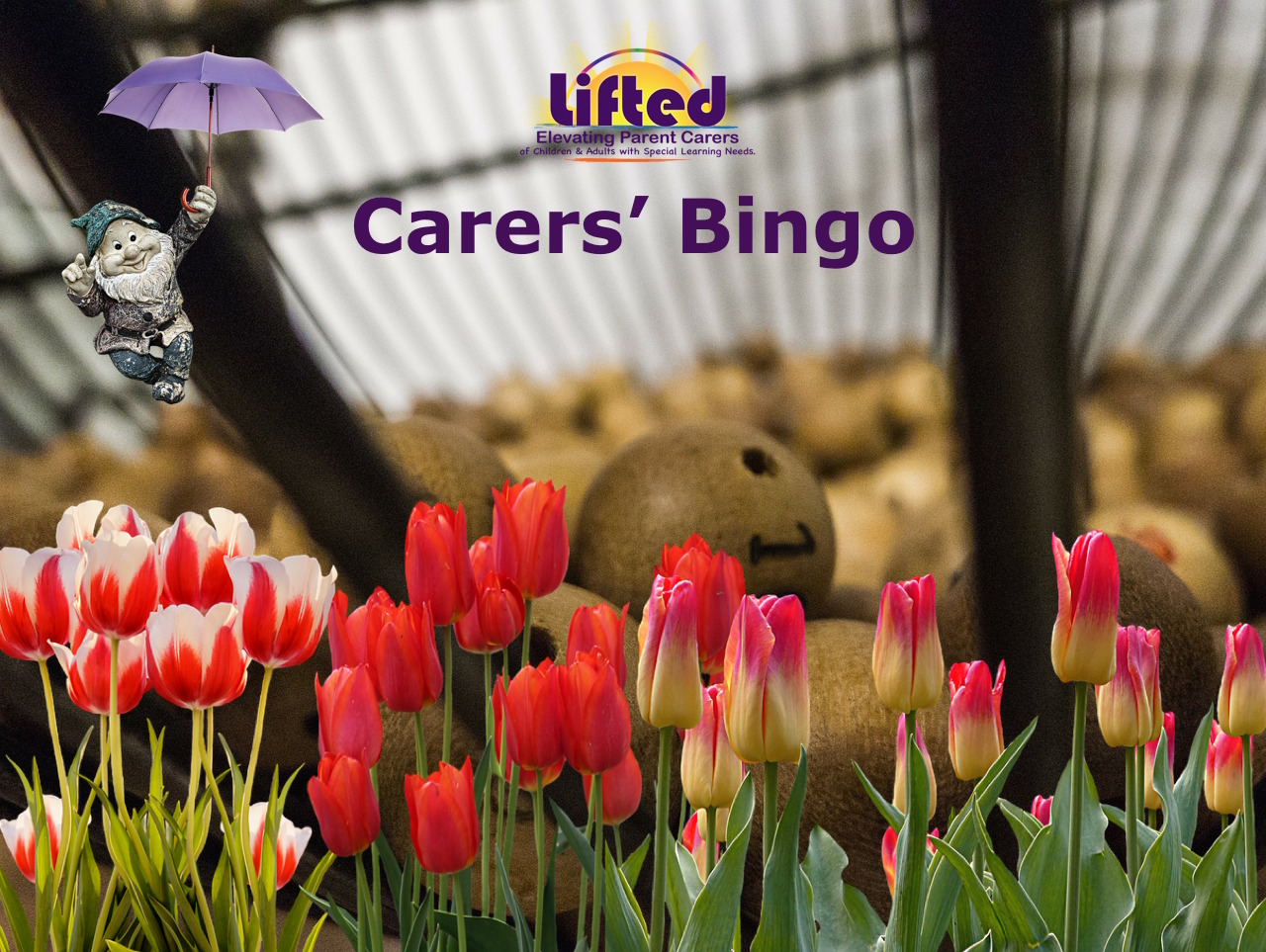 Teaser image for Lifted Carers' Spring Bingo 2018 | original images from pixabay.com