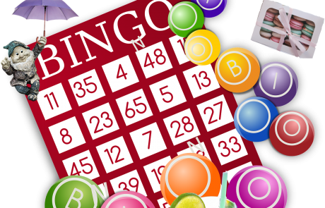 Lifted Carers' Spring Bingo 2018 poster | original images from pexels.com and pixabay.com