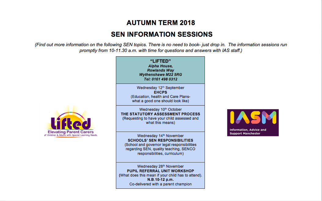Poster for IAS Training Dates @ Lifted in Autumn 2018