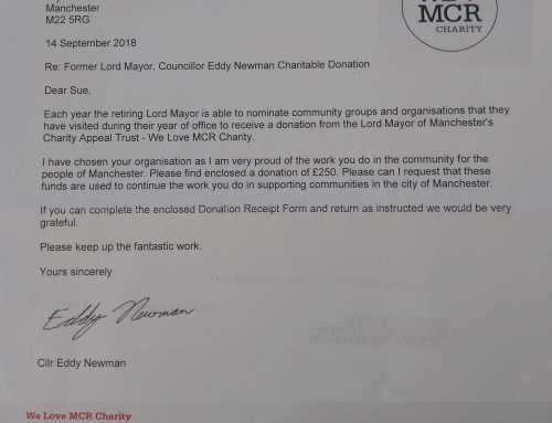 Thank you, We Love MCR Charity!