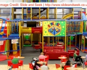 the play areas at Slide and Seek in Hyde | image credit: www.slideandseek.co.uk