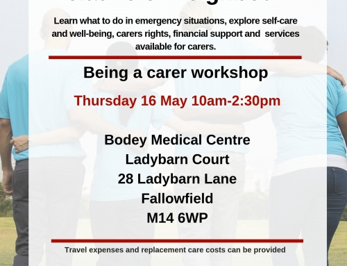 Information Sharing: Workshops Available for Carers (Sensory Needs, Welfare Benefits, etc) in May 2019