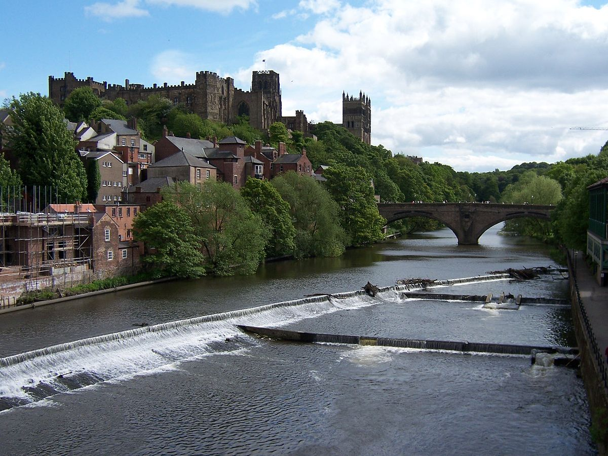 image of the Durham Castle and Cathedral as seen from across the River Wear | image credit: WIkimedia