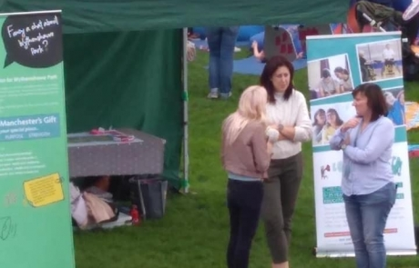 Manchester Local Offer's information stall at Lifted's 2018 Festival in the Park
