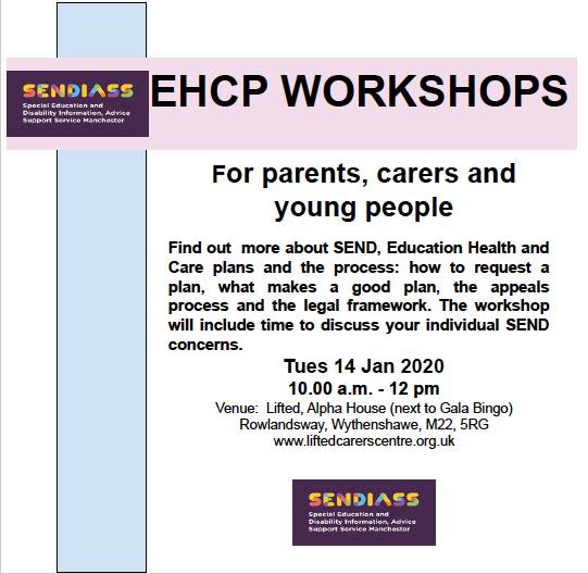 Poster for IAS EHCP Workshops @ Lifted in Early 2020