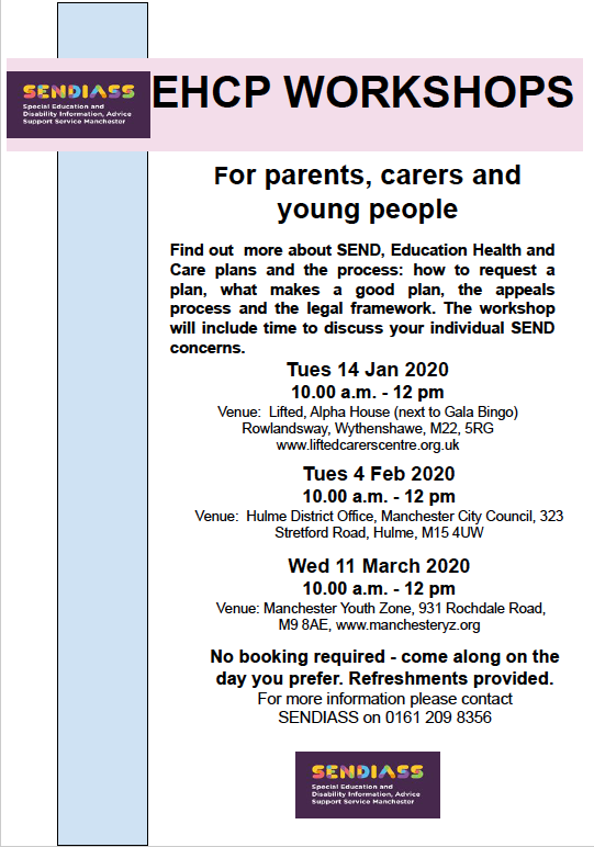 Details for the IAS Manchester Bite-sized SEND Courses - EHCP Workshops - Q1 2020