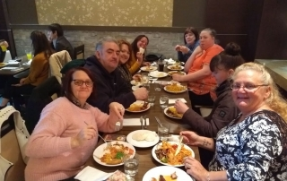 parent-carers having buffet lunch in The Real China at The Lowry Outlet Mall