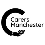 Carers Manchester's logo, centred in a 300x300 white background